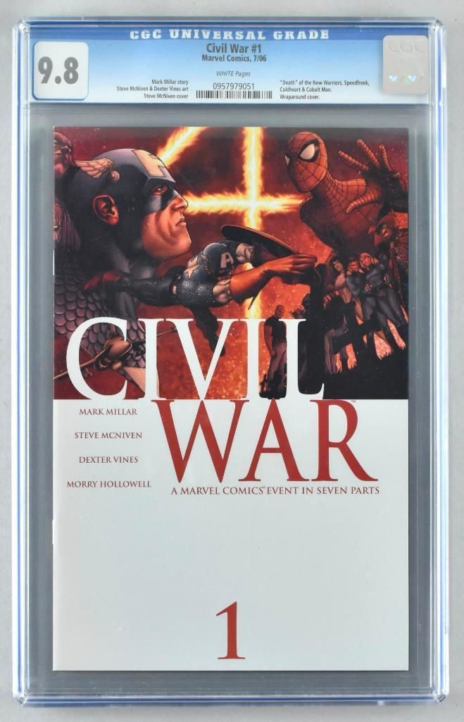 CGC Graded Marvel Comics Civil War No. 1 comic book