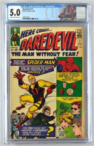 CGC Graded Marvel Comics Daredevil No. 1 comic book
