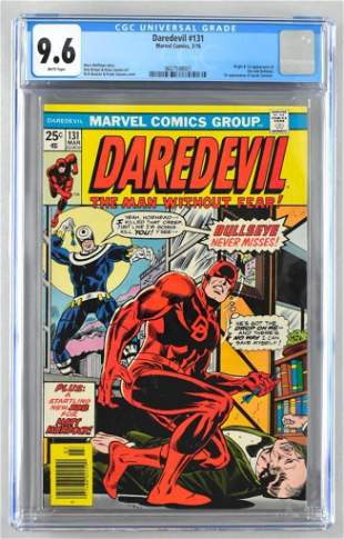 CGC Graded Marvel Comics Daredevil No. 131 comic book