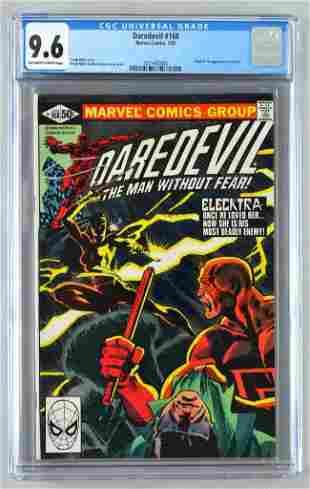 CGC Graded Marvel Comics Daredevil No. 168 comic book