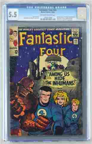 CGC Graded Marvel Comics Fantastic Four No. 45 comic