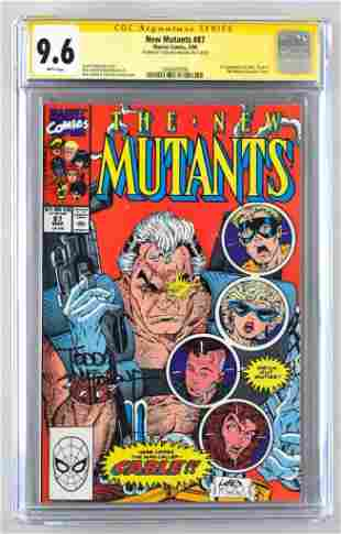 Signed CGC Graded Marvel Comics New Mutants No. 87
