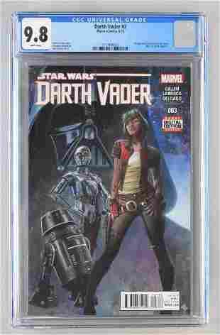 CGC Graded Marvel Comics Darth Vader No. 3 comic book