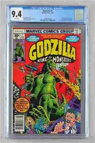 CGC Graded Marvel Comics Godzilla No. 1 comic book