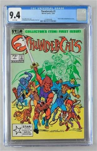 CGC Graded Marvel Comics Thundercats No. 1 comic book