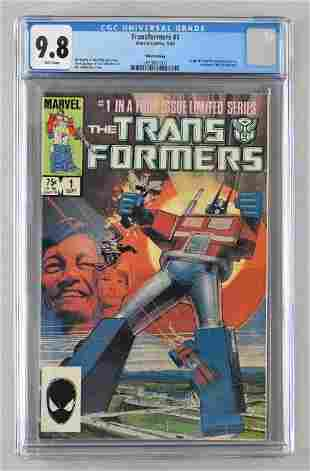 CGC Graded Marvel Comics Transformers No. 1 comic book