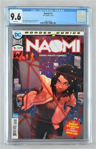 CGC Graded DC Comics Naomi No. 1 comic book