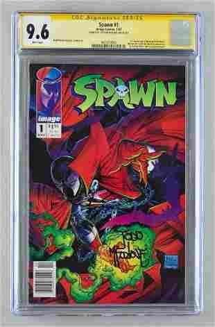Signed CGC Graded Image Comics Spawn No. 1 comic book