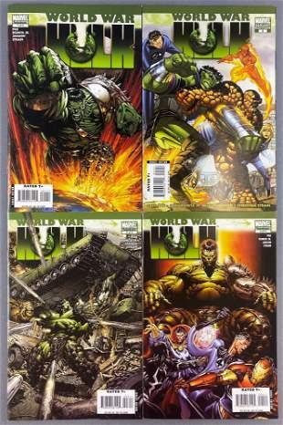 Group of 4 Marvel Comics World War Hulk comic books
