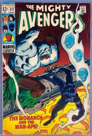 Marvel Comics The Avengers No. 62 comic book