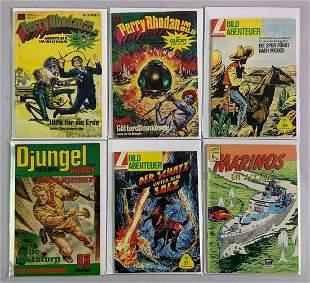 Group of 6 International Adventure Genre comic books