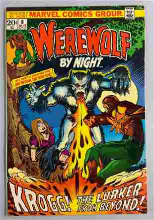 Marvel Comics Werewolf by Night No. 8 comic book