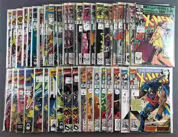 Group of 48 Marvel Comics X-Men comic books