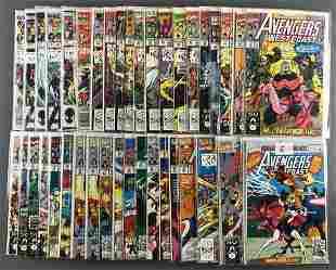 Group of 38 Marvel Comics West Coast Avengers comic