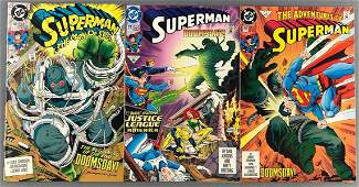 Group of 3 DC Comics Superman comic books