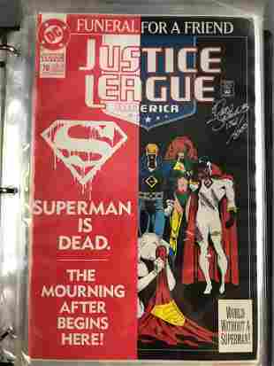 Binder of 9 signed and numbered DC Comics comic books