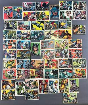 Complete 55-card set 1966 Topps Batman trading cards