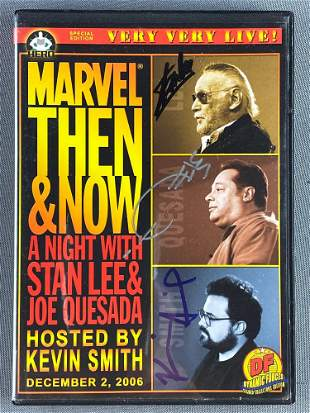 Signed DVD-Marvel Then and Now: An Evening with Stan