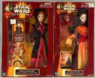 Group of 2 Hasbro Star Wars Episode 1 Queen Amidala