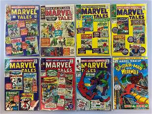 8 piece group Marvel Comics Marvel Tales comic books
