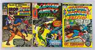 Group of 3 Marvel Comics comic books featuring Captain