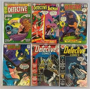Group of 6 DC Comics Detective Comics comic books