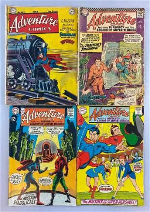 Group of 4 DC Comics Adventure Comics comic books