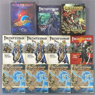 Group of 11 RPG Rule books, adventures, and more