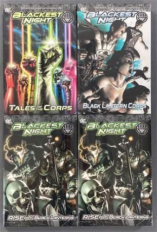 Group of 4 DC Comics Blackest Night trade comics
