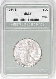 1944 S Walking Liberty Silver Half Dollar (NTC) MS63