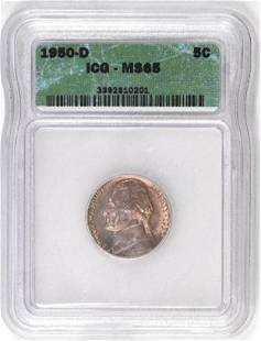 1950 D Jefferson Nickel (ICG) MS65