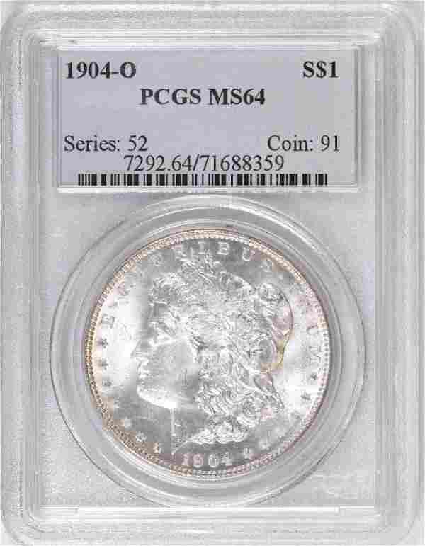 1904 O Morgan Silver Dollar (PCGS) MS64.