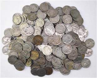 Group of (282) Buffalo Nickels