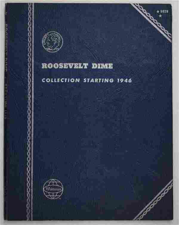 Group of (48) Roosevelt Silver Dimes in Whitman Album