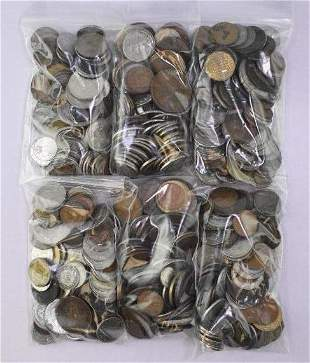 Group of (600) Misc Foreign Coins