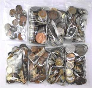Group of (740) Misc Foreign Coins
