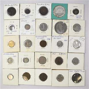 Group of (75) Foreign 2x2'd Coins
