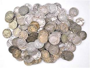 Group of (200) Buffalo Nickels