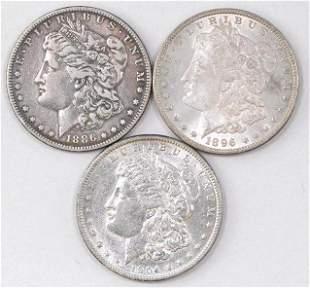 Group of (3) Morgan Silver Dollars