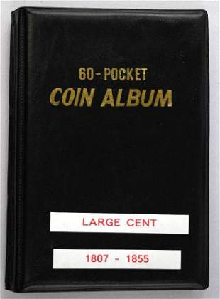 Group of (23) U.S. Large Cents in Coin Album 1807-1855