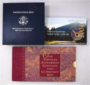 Group of (3) U.S. Jefferson Nickel Commemorative Sets
