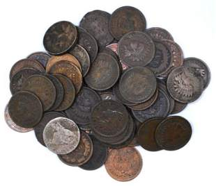 Group of (60) Flying Eagle & Indian Head Cents