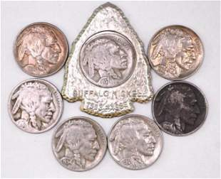 Group of (7) Buffalo Nickels