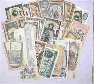 Huge lot of over (220) Foreign Currency