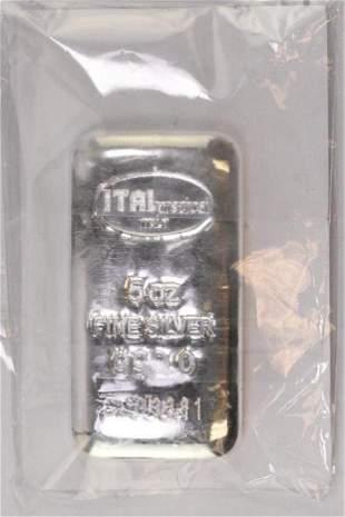 Italpreziosi Precious Metals 5oz. .999 Fine Silver