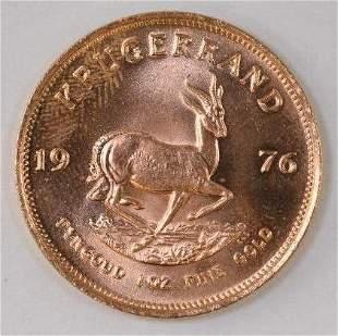 1976 South Africa Krugerrand 1oz. .999 Fine Gold