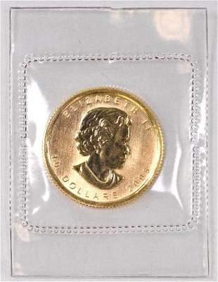 2008 $10 Canada Maple Leaf 1/4oz. .9999 Fine Gold
