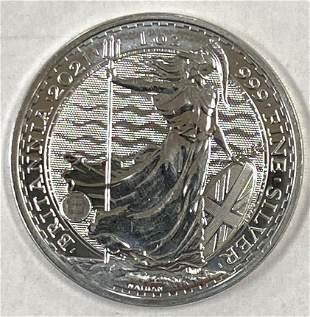 2021 2 Pounds Great Britain Britannia 1oz. .999 Fine