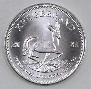 2021 South Africa Krugerrand 1oz. Fine Silver