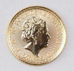 2021 Great Britain 10 Pounds Britannia 1/10thoz. .9999
